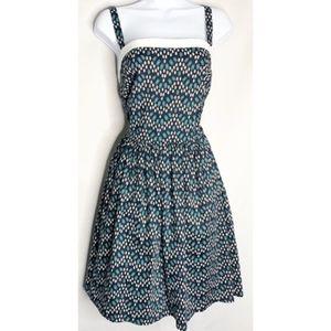 Eshakti L 14 retro geometric dress